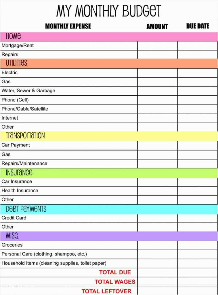 Free Monthly Budget Worksheet as Well as Cheap Printable Bud Worksheet – Sabaax