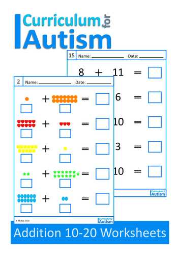 Free Printable Autism Worksheets and Special Education Math Worksheets Beautiful Practice Your Math