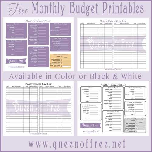 Free Printable Budget Worksheets Also Bud forms for Free Guvecurid