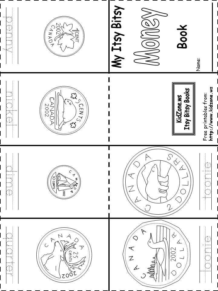Free Printable Money Worksheets for Kindergarten Also Canadian Money Coins Book Printable Free Mini Books