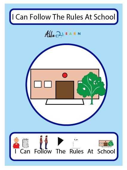 Free Printable social Stories Worksheets Also Free I Can Follow the Rules at School social Story