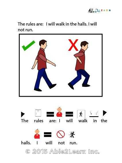 Free Printable social Stories Worksheets with Free I Can Follow the Rules at School social Story