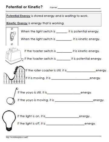 Friction and Gravity Lesson Quiz Worksheet as Well as Potential or Kinetic Energy Worksheet Stem Energy