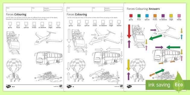 Friction Worksheet Answers and forces Colouring Homework Worksheet Activity Sheet Homework