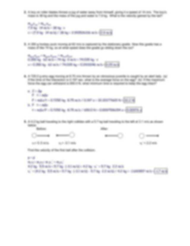 Friction Worksheet Answers and Momentum and Impulse Worksheet 3 Key Momentum and Impulse Ap