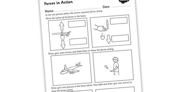 Friction Worksheet Answers as Well as forces In Action Worksheet forces forces and Motion forces
