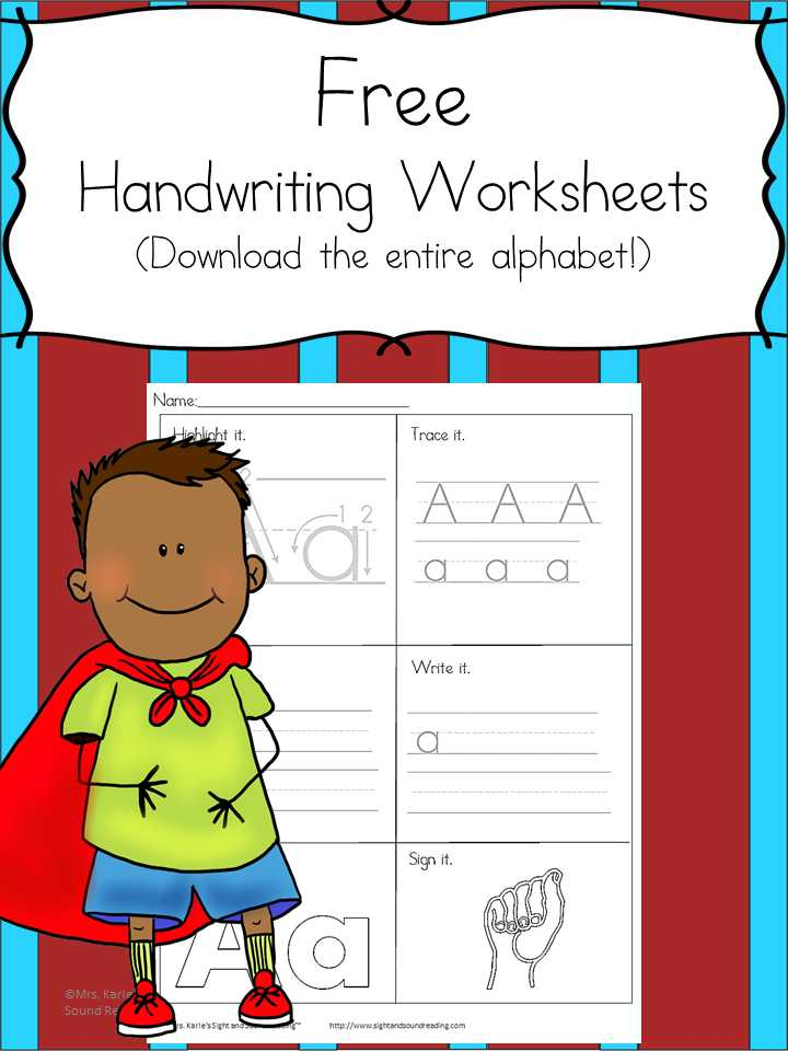 Fun Worksheets for Kids with Printable Handwriting Worksheets for Kids
