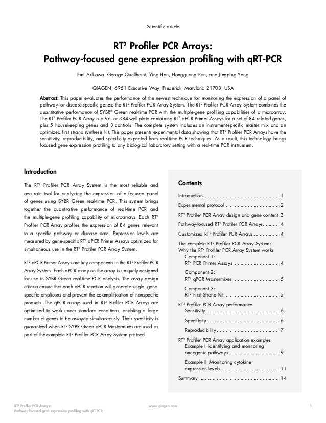 Gene Regulation and Expression Worksheet Answers Also Rt2 Profiler Pcr Arrays Pathway Focused Gene Expression Profiling Wi…