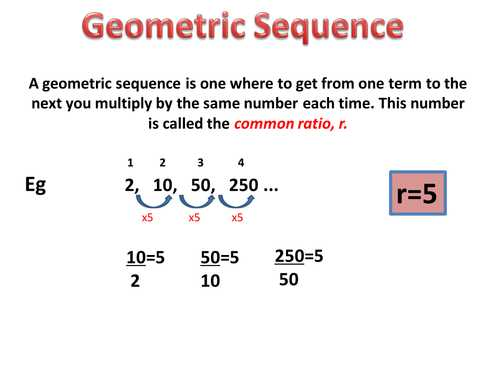 Geometric Sequences Worksheet Answers Also Counting Number Worksheets Worksheets Sequences and Series Free
