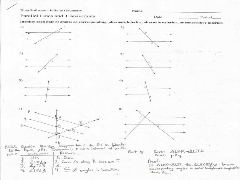 Geometry Cp 6.7 Dilations Worksheet Answers Along with Parallel Lines and Transversals Worksheet Answers Lovely Angles and