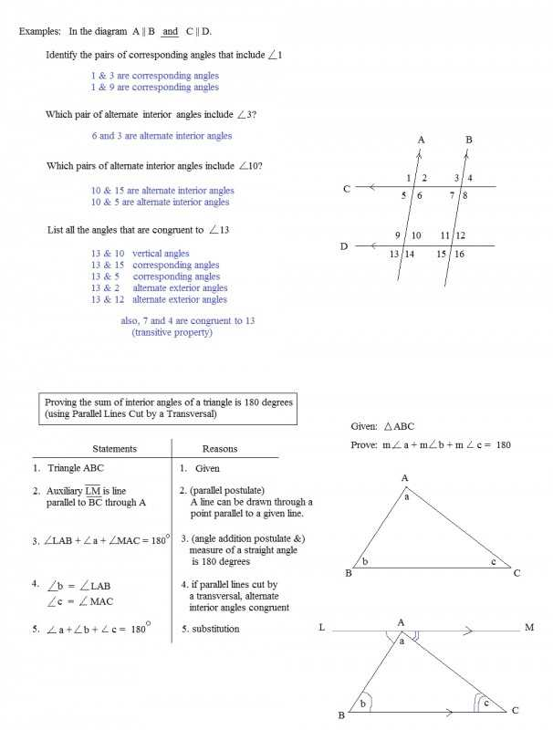 Geometry Parallel Lines and Transversals Worksheet Answers Along with 30 New Parallel Lines and Transversals Worksheet Answers