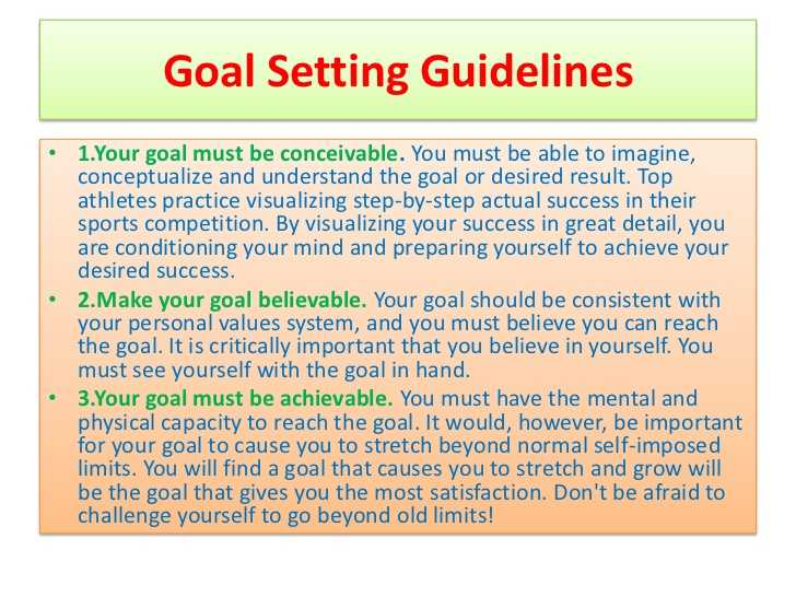 Goal Setting Worksheet for Students and Goal Setting Ppt