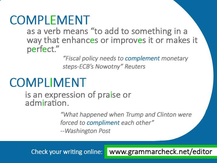 Grammar Complements Worksheet or English Grammar Plement or Pliment Other Mon Confusions