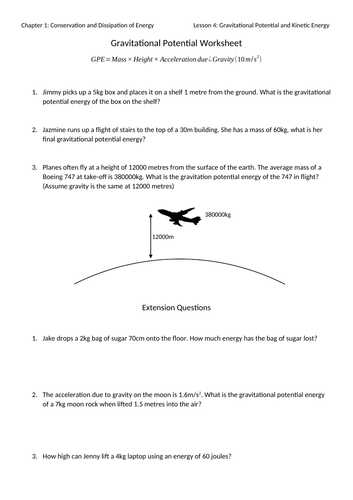 Gravitational Potential Energy Worksheet with Answers as Well as Mr Ansell S Resources Shop Teaching Resources Tes