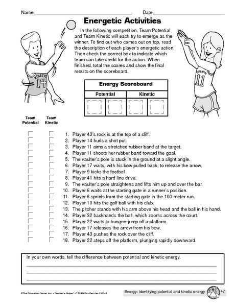 Gravitational Potential Energy Worksheet with Answers as Well as Potential Vs Kinetic Energy Hs Science Pinterest