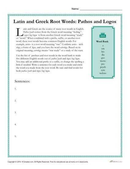 Greek and Latin Roots 4th Grade Worksheets as Well as Greek and Latin Root Words Worksheets