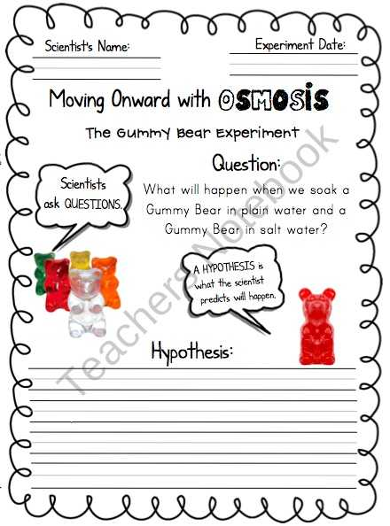 Gummy Bear Science Experiment Worksheet Along with 92 Best Mason Images On Pinterest