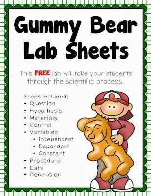 Gummy Bear Science Experiment Worksheet and 13 Best Science Project Images On Pinterest