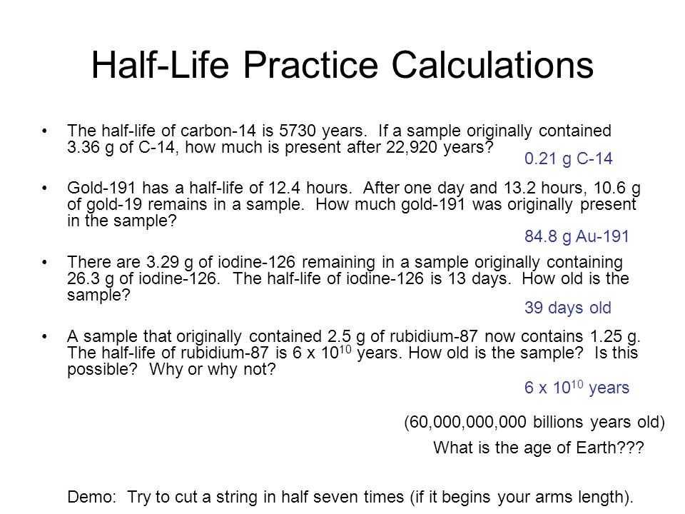 Half Life Practice Worksheet with Half Life Ppt Video Online
