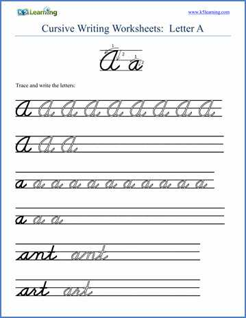 Handwriting Worksheets for Kindergarten Along with Cursive Alphabet Worksheets