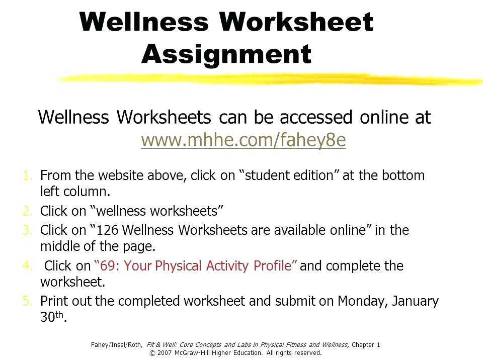 Health and Wellness Worksheets for Students as Well as Physical Education Worksheets – Bitsandpixelsfo