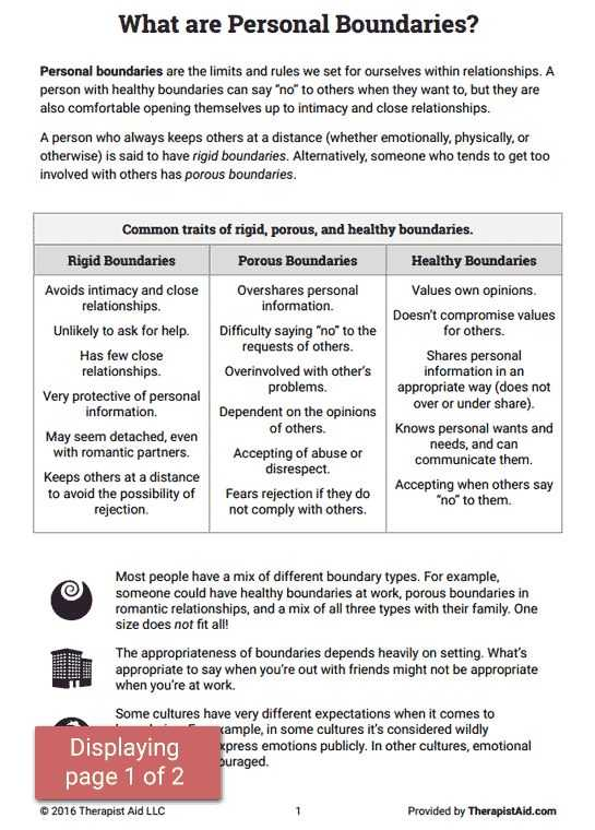 Healthy Boundaries Worksheet Also 536 Best therapy Ideas Co Occurring Disorders Images On Pinterest