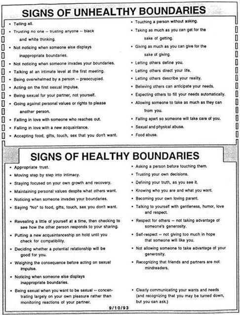 Healthy Boundaries Worksheet and 60 Best Counseling Helps Images On Pinterest