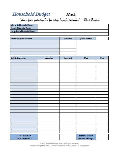 Household Budget Worksheet or Bud Sheets Free Guvecurid