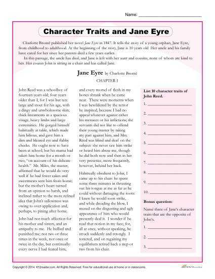 Identifying Character Traits Worksheet as Well as Character Trait Worksheet the Best Worksheets Image Collection