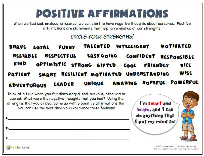 Improving Self Esteem Worksheets as Well as Self Esteem Worksheets