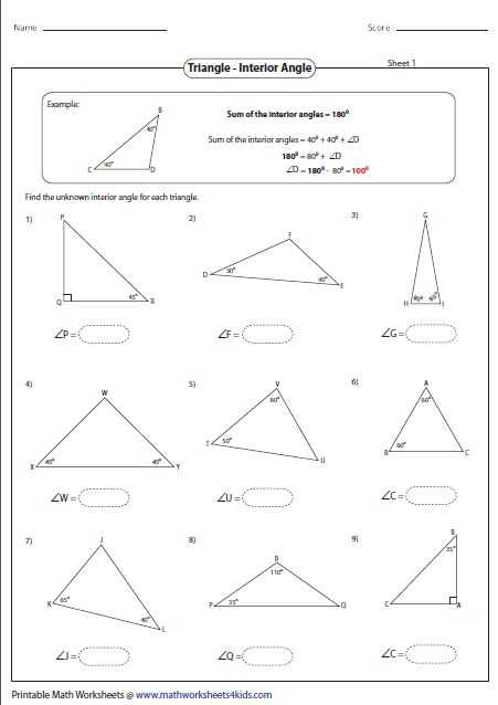 Interior Angles Worksheet and 922 Best Geometria Images On Pinterest