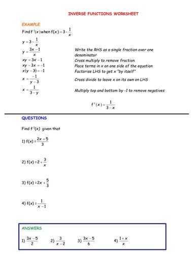 Inverse Function Word Problems Worksheet together with 63 Best Maths Functions Secondary School Images On Pinterest