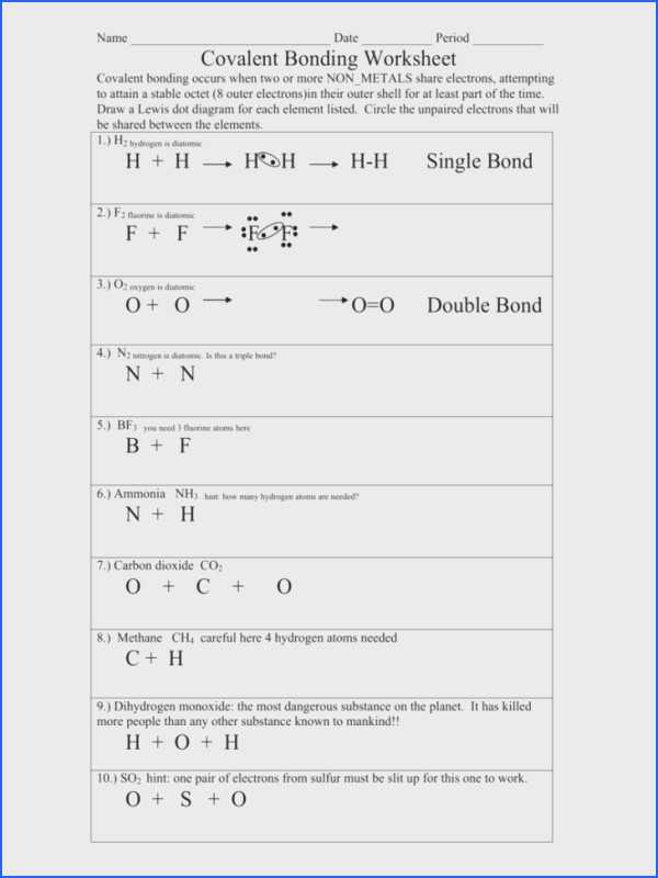 Ionic and Covalent Bonding Worksheet Answer Key and Bonding Basics Ionic Bonds Worksheet Answers Image Collections