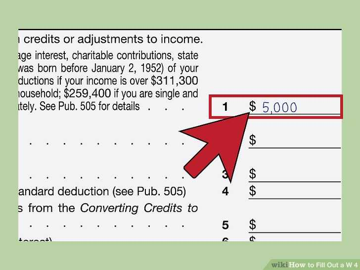 Ira Deduction Worksheet Along with How to Fill Out A W‐4 with Wikihow