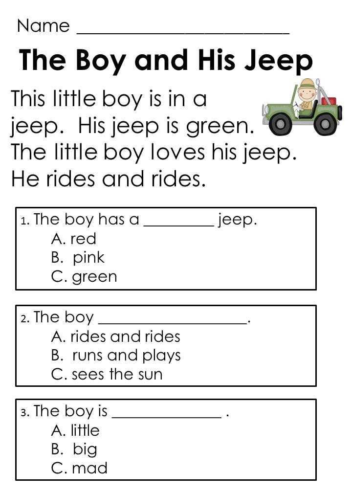 Kindergarten Reading Comprehension Worksheets as Well as 2nd Grade Reading Prehension Worksheets Multiple Choice