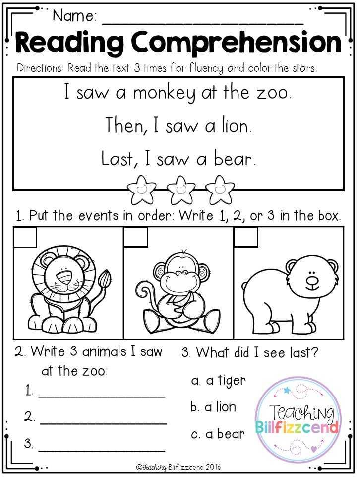 Kindergarten Reading Comprehension Worksheets or 210 Best Cr Prehension Images On Pinterest