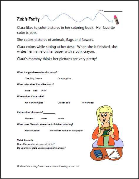 Kindergarten Reading Comprehension Worksheets with Worksheets 45 Lovely Prehension Worksheets High Resolution