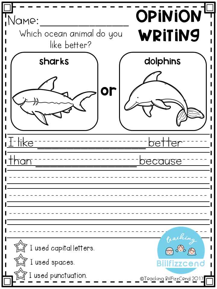 Kindergarten Writing Worksheets and Writing Prompts Opinion Writing & Picture Prompts the Bundle