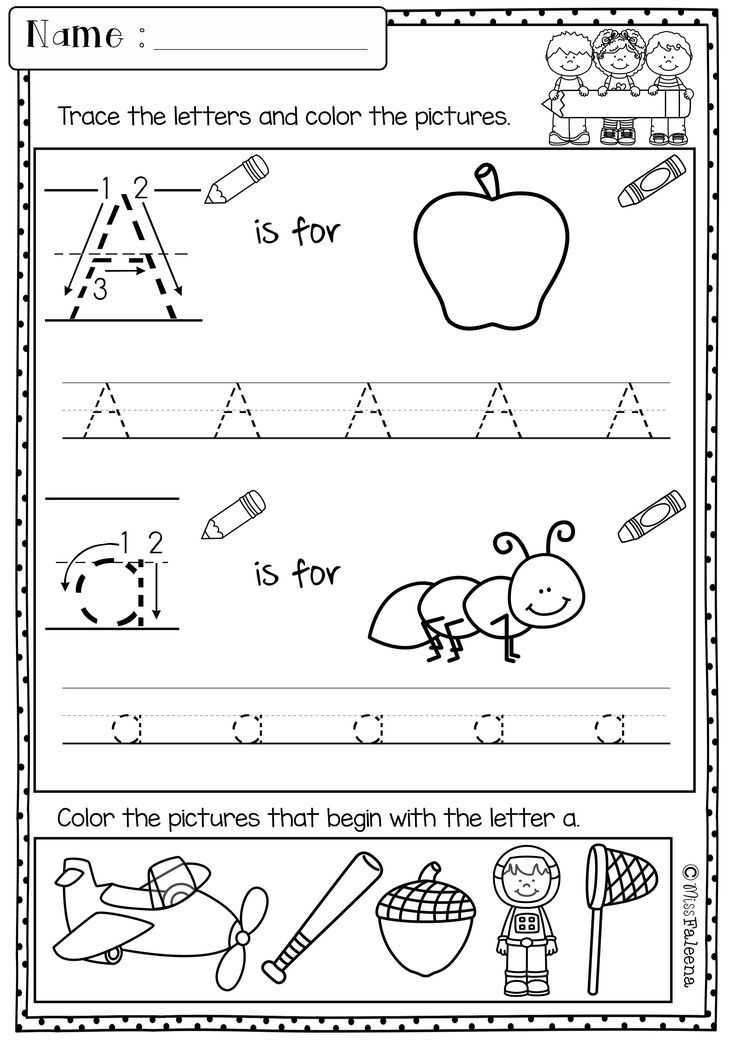 Kindergarten Writing Worksheets or Kindergarten Morning Work Set 1