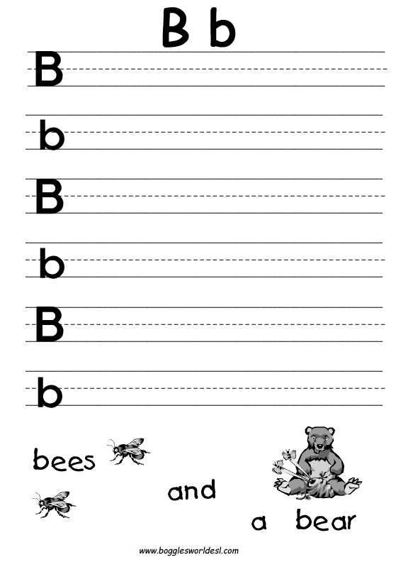 Kindergarten Writing Worksheets together with Practice Writing Letter B Worksheet Kidz Activities