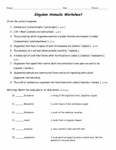 Kingdom Classification Worksheet Answers or 28 Unique Kingdom Classification Worksheet Answers Collection