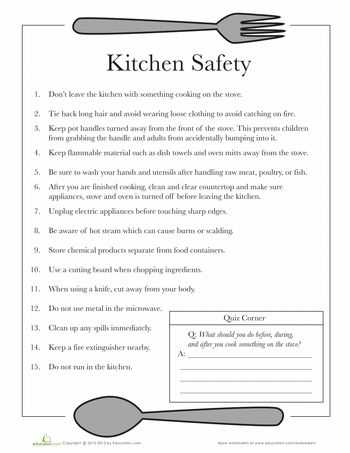 Kitchen Safety Worksheets Also 164 Best Food Science and Recipes Images On Pinterest