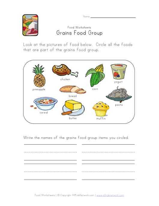Kitchen Safety Worksheets with This Simple Food Worksheet is Perfect for Any Food or Grains Food