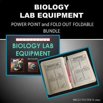 Laboratory Equipment Worksheet with Biology Lab Equipment Power Point and Graphic organizer Foldable for