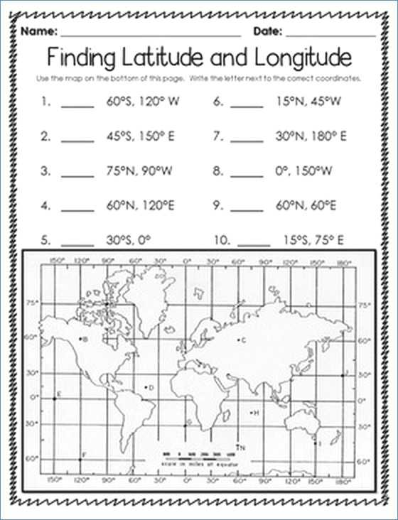 Latitude and Longitude Worksheet Answer Key or Blank World Map Worksheet with Latitude and Longitude