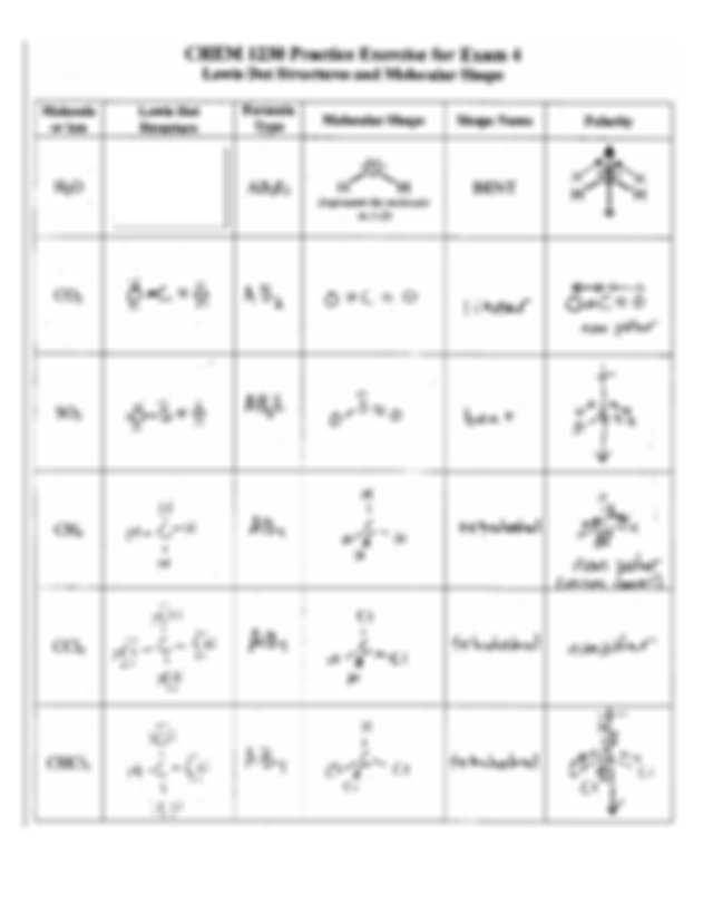 Lewis Structure and Molecular Geometry Worksheet or Lds Worksheetom Carl Modified Molecule Lewis Dot Structure