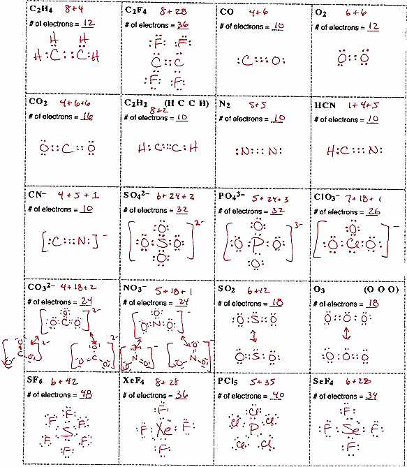 Lewis Structure Worksheet 1 Answer Key and Lewis Dot Diagram Worksheet Answers New Electron Dot Structures
