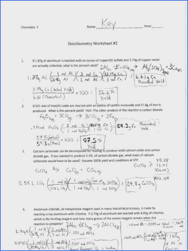 Limiting Reactant and Percent Yield Worksheet Answer Key Also Worksheets 48 Inspirational Limiting Reagent Worksheet Full Hd