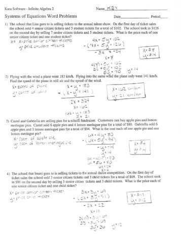 Linear Equations Word Problems Worksheet together with Inequality Word Problems Worksheet Algebra 1 Answers Best solving