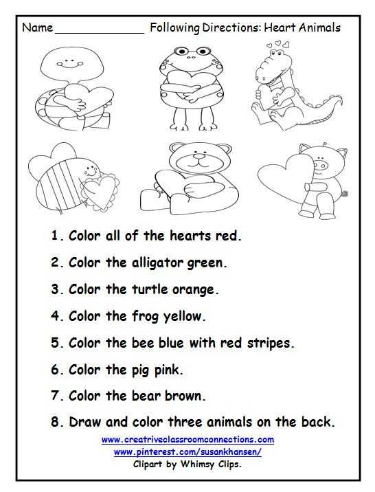 Listening Skills Worksheets and 133 Best Color by Number Images On Pinterest